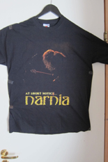 narnia at short notice t-shirt